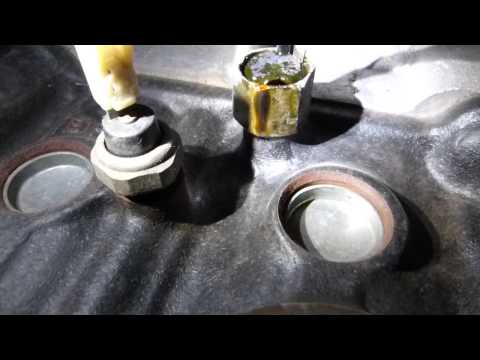 Oil pressure and knock sensor location and operation