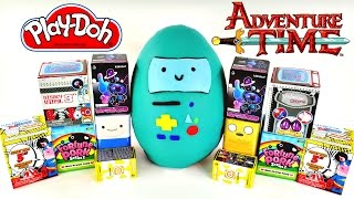 getlinkyoutube.com-HUGE Adventure Time Blind Box Play Doh Surprise Egg - Hello Kitty Sonic My Little Pony Disney Toys