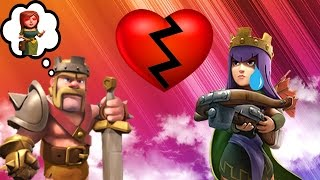 getlinkyoutube.com-CLASH OF CLANS - BARBARIAN KING CHEATS ON THE ARCHER QUEEN! 3 SPELL CHALLENGE + FUNNY MOMENTS!