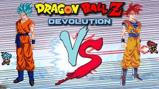 getlinkyoutube.com-Dragon Ball Z Devolution: Super Saiyan God Goku vs. Super Saiyan God Super Saiyan Goku!