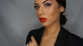 getlinkyoutube.com-Kim Kardashian bronzed makeup tutorial