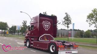 getlinkyoutube.com-Gerrits V8 Dag Hengelo 01-10-2016 | Scania V8 open pipe exhaust sound! - Truckmeeting 2016