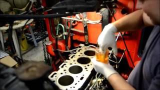 getlinkyoutube.com-Installation af foringer / Cylinder liner installation - Volvo D39T Motor/Engine (Perkins A4.236)