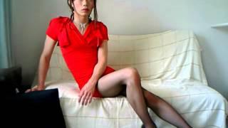 女装子 ナナア RED DRESS