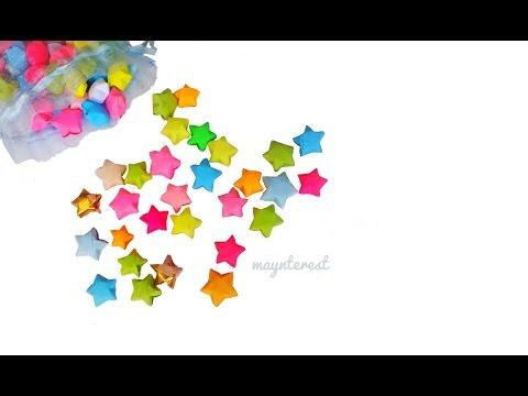 Estrellitas de papel infladas / Origami lucky stars