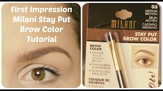 getlinkyoutube.com-Obočie s Milani Stay Put Brow Color - First Impression