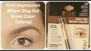 getlinkyoutube.com-Obočie s Milani Stay Put Brow Color - First Impression