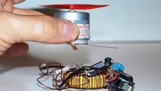 """getlinkyoutube.com-Wireless Free Energy Generator for Magner Motor and Light Bulb """"Free Energy"""""""