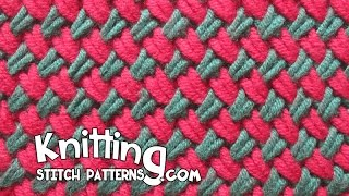 Two color Woven Plait stitch