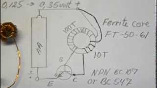 Joule Thief very very low input  0,136 volt