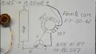 getlinkyoutube.com-Joule Thief very very low input  0,136 volt