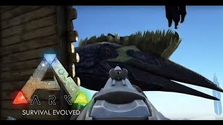 getlinkyoutube.com-Ark:Survival Evolved - Catching a Quetzal with a Quetzal cage plus leveling - S1 E16
