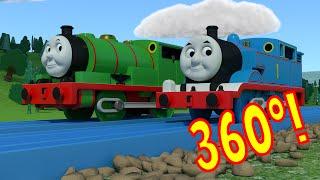 getlinkyoutube.com-360º TOMICA Thomas & Friends: Trainspotting at Tidmouth Tunnel