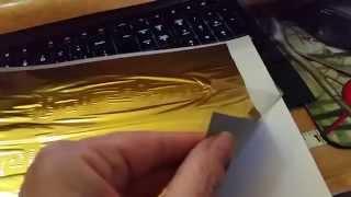 getlinkyoutube.com-Gold Foil Print using a laminator that won't break your bank!