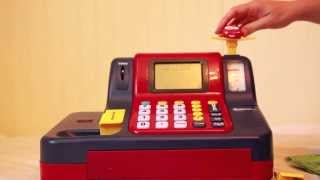 getlinkyoutube.com-LEARNING RESOURCES Educational Teaching Cash Register Toy REVIEW- Learn to Add and Subtract