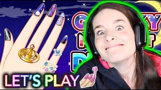 getlinkyoutube.com-NAIL PAINTING VIDEO GAME! Let's play together