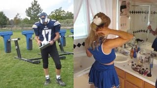getlinkyoutube.com-Heidi Transformation: Quarterback to Cheerleader
