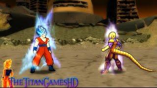 getlinkyoutube.com-Dragon Ball Z Shin Budokai 2 - Goku Ssj God Blue 2 Vs Cooler Gold