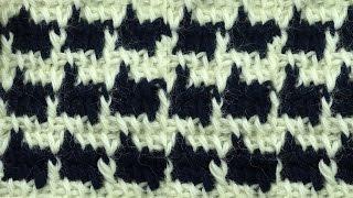 getlinkyoutube.com-Красивый двухцветный жаккард  Tunisian crochet pattern 57