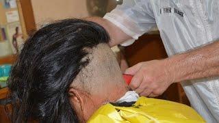 getlinkyoutube.com-Woman zero clipper cut