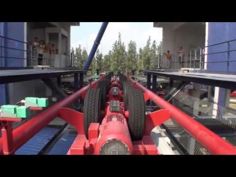 Diving Coaster Roller Coaster Front Seat POV B&M Dive Machine Happy Valley Shanghai China