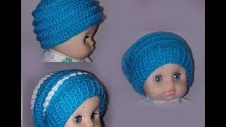 getlinkyoutube.com-Шапка бини 3 в 1 Вязание крючком для начинающих Crochet Hats 3 in 1