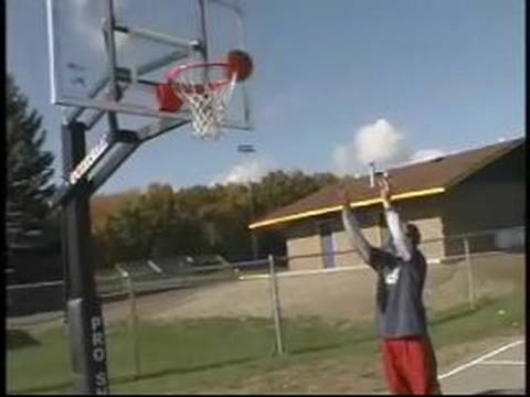 Basketball Lessons for Beginners : How to Shoot a Bank Shot in Basketball