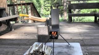 getlinkyoutube.com-Tahoe Lumberjack Rocket Stove
