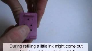 getlinkyoutube.com-HP Color Inkjet Cartridges: Refill Instructions
