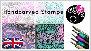 getlinkyoutube.com-Handcarved Stamps | Tutorial DIY | How to make your customized Stamps