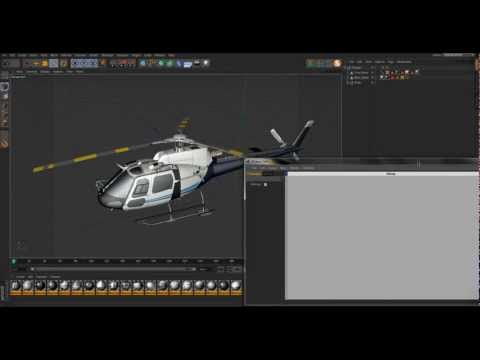 Cinema 4D Helicopter Tutorial (Xpresso + Time Node)