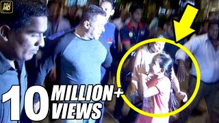 getlinkyoutube.com-Salman Khan's Little FAN Begs To Hold His Hand At Airport.. What Salman Does is Very CUTE!!