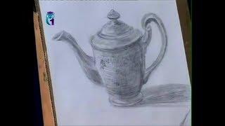 getlinkyoutube.com-Уроки рисования (№ 7) карандашом. Рисуем чайник