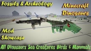 getlinkyoutube.com-Minecraft Dinosaurs Fossils and Archeology Mod Showcase All Dinosaurs and Creatures