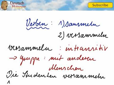 Difference between sammeln and versammeln - Learn German Vocabulary with Deutsch Happen