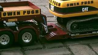 getlinkyoutube.com-RC model FH16 Volvo Low loader