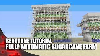 getlinkyoutube.com-Minecraft: Simple Fully Automatic Sugarcane Farm!