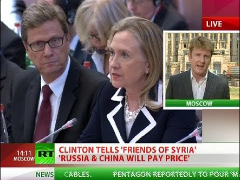 Clinton: Russia & China will 'pay price' for supporting Assad
