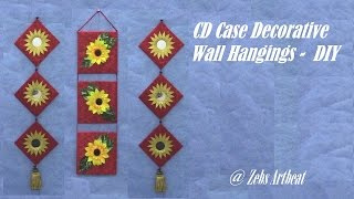 getlinkyoutube.com-Decorative Wall Hanging DIY ( Recycling Old CD Cases )