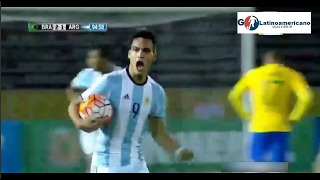 Argentina vs Brasil 2-2 - Gol de Lautaro Martinez - Sudamericano Sub 20 - 08/Febrero/2017