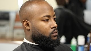 getlinkyoutube.com-Bald fade with faded beard (beardwork)