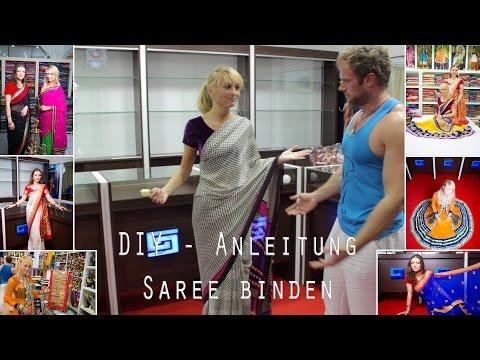 DIY Anleitung - Wie man einen Saree wickelt