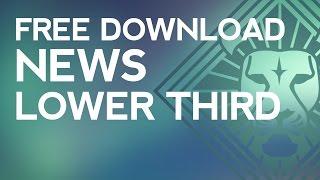 getlinkyoutube.com-Professional News Lower Third Free Template Download (Sony Vegas)