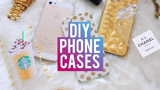 getlinkyoutube.com-DIY Phone Cases | Chanel Perfume, Starbucks, Brandy Melville & More!