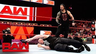 Roman Reigns unleashes on Brock Lesnar before WrestleMania: Raw, April 2, 2018 width=