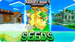 getlinkyoutube.com-Minecraft PE Seeds - TOP 10 BEST Starting Seeds - MCPE 1.0.0 / 1.0 Villages, Temples, Biomes