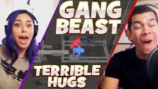 "getlinkyoutube.com-""TERRIBLE HUGS"" Gang Beast - Husband vs Wife"