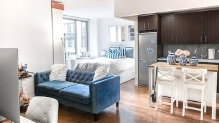 getlinkyoutube.com-New York City Studio APARTMENT TOUR (updated) / Covering the Bases