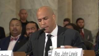 getlinkyoutube.com-FULL: Senator Cory Booker testifies against Senator Jeff Sessions