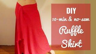 getlinkyoutube.com-[No Sew] 10 min Ruffle Skirt DIY - SUPER EASY!